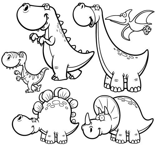 Fun Dinosaur Coloring Pages | ImagiPlay