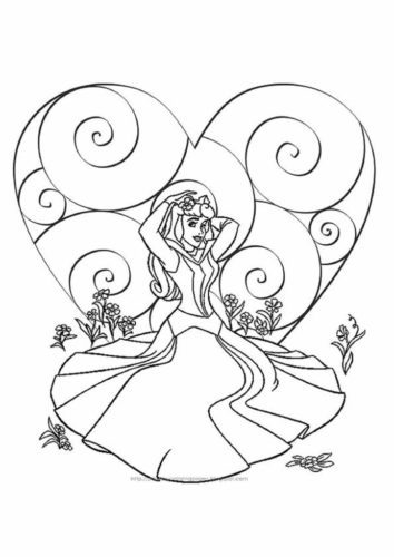Princess Valentine Coloring Page A4